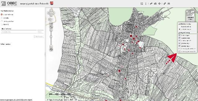 c5f5969bf Mapový portál - Oficiálna stránka obce Pohorelá