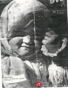 SVET, 1947-Malá filozofka.  Anička zPohorelej tuho premýšľa. Očom asi?
