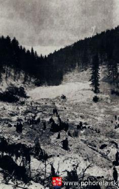 Lavínové nešťastie lesných robotníkov 1956-Pátranie záchranárov
