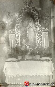 1931 - Oltár Lurdskej Panny Márie -1931 - Oltár Lurdskej Panny Márie