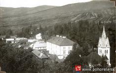1931 - Pohľad naP. Mašu skaštieľom -1931 - Pohľad naP. Mašu skaštieľom