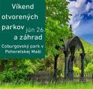 víkend otvorených parkov a záhrad - logo